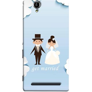 FUSON Designer Back Case Cover for Sony Xperia T2 Ultra :: Sony Xperia T2 Ultra Dual SIM D5322 :: Sony Xperia T2 Ultra XM50h (Photo Wallpaper Marriage White Dressed Bride )