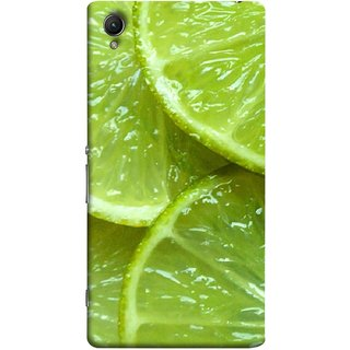 FUSON Designer Back Case Cover for Sony Xperia X :: Sony Xperia X Dual F5122 (Lemon Agriculture Background Bud Candy Cell)