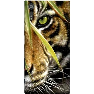 FUSON Designer Back Case Cover for Sony Xperia XR (Animal Bengal Indian Jungle King Whiskers Grass)