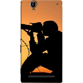 FUSON Designer Back Case Cover for Sony Xperia T2 Ultra :: Sony Xperia T2 Ultra Dual SIM D5322 :: Sony Xperia T2 Ultra XM50h (Life Through A Lens Sunset Silhouette Camera Lens)