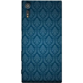FUSON Designer Back Case Cover for Sony Xperia XR (Blue Artwork Student Spots Amazing Plywood Table Cloth)