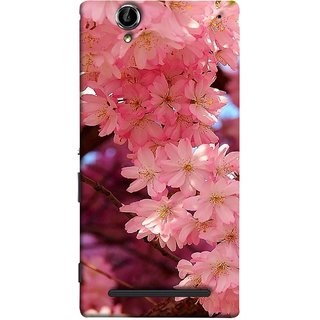 FUSON Designer Back Case Cover for Sony Xperia T2 Ultra :: Sony Xperia T2 Ultra Dual SIM D5322 :: Sony Xperia T2 Ultra XM50h (Flowering Cherry Trees Pink Perfection Lovely Love )