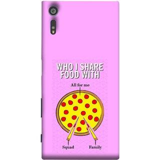 FUSON Designer Back Case Cover for Sony Xperia XR (Pizza Hut Domino Tomato Pizza Cheese Share Sharing)