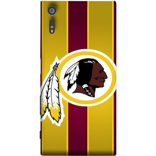 FUSON Designer Back Case Cover for Sony Xperia XR (Yellow Circles White Yellow And Maroon Vertical)