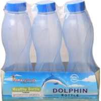 Incrizma - Dolphin Bottle - 3 Set Water Bottles - Each 1000ml - BPA Free - 5116274