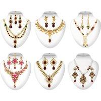 6 Designer Necklace Sets Combos By The Pari(Combp 3)