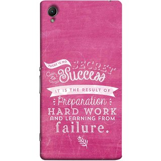 FUSON Designer Back Case Cover for Sony Xperia X :: Sony Xperia X Dual F5122 (Result Of Preparation Hard Work Learning From Failure)