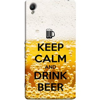 FUSON Designer Back Case Cover for Sony Xperia X :: Sony Xperia X Dual F5122 (Beer Sign Glasses Bubbles Daaru Drink Wine Vodka)