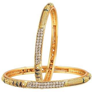 Jewels Galaxy Designer Gold Plated Bangle Set