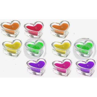 Floating Coloured Gel Candles (Set of 10 Pcs.)
