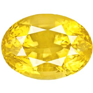 Ankit Collection 5.3 Carat /6 Ratti Certified Natural Yellow Sapphire ( Pukhraj), Astrological GemStone