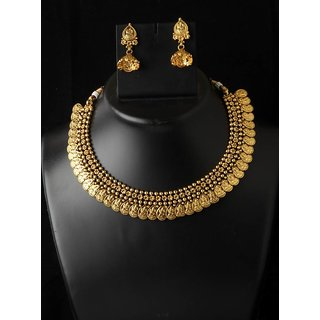 Exclusive Indian Temple Copper Jewellery Golden