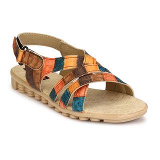 cb4d59698f30 Buy Trilokani Women s Orange Sandals Online - Get 70% Off