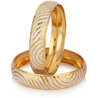 Jewels Galaxy Exclusive Gold Plated AD Kadas For Women