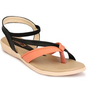 25a9aaa25701 Buy Trilokani Women s Orange Sandals Online - Get 71% Off