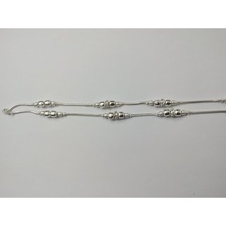 mini oomph online india stone studded toned anklet silver buy anklets multistranded in