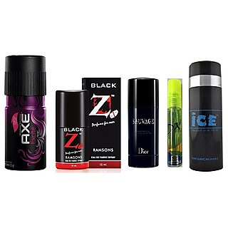 Fantastic Five Deos - Axe deo + Pocket Perfume + Hot Collection deo + Ice Deo + DX Deo