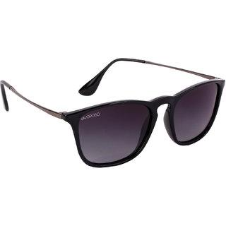 VALOROSO VAL1001  Shiny Black Wayfarer Sunglasses