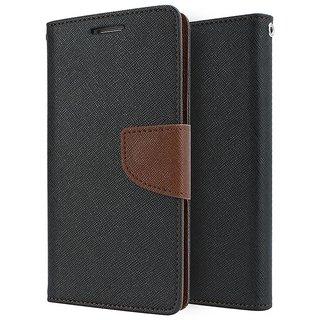New Mercury Goospery Fancy Diary Wallet Flip Case Back Cover for Motorola Moto G2 (Brown)