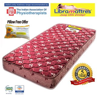 Libramattres Othospine 5 COIR Mattress 1 Pillow Free