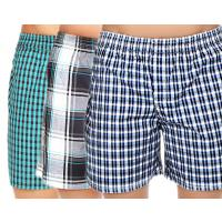 Cybernext Combo Of 3 Cotton Checkered Boxer Shorts