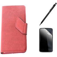 Callmate Sticker Flip Case For LG Optimus L3 Dual E405+Screen Guard+ Stylus Pen