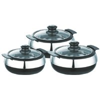Jaypee High Quality Stainless Steel Glasserol Set Of 3 Pcs