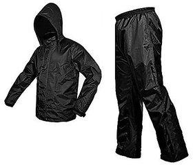 AutoSun Unisex Waterproof Raincoat With detachable Hoods, Unisex Portable Rain Suit (M)
