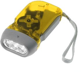 Hand-Pressed Led Flashlight Dynamo Torch - For Home, Car Emergencies, Camping, Hiking, Outdoor Night Activities