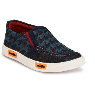 Trilokani Blue Rubber Canvas Shoes