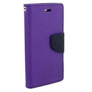 New Mercury Goospery Fancy Diary Wallet Flip Case Back Cover for Lenovo A 1000  (Purple)