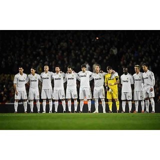 MYIMAGE Soccer Team of Real madrid Poster (Canvas Cloth Print, 31cm x 46 cm)