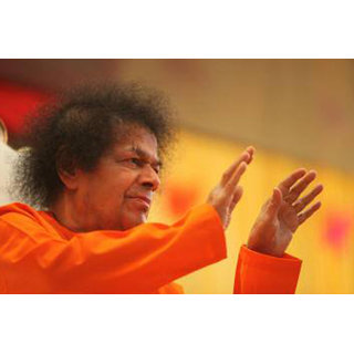 MYIMAGE Satya Sai Baba Poster (Canvas Cloth Print, 31cm x 46 cm)