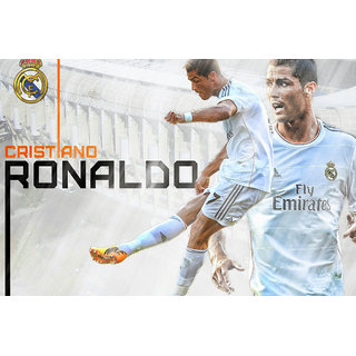 MYIMAGE Cristiano Ronaldo Poster (Canvas Cloth Print, 12x18 inch)