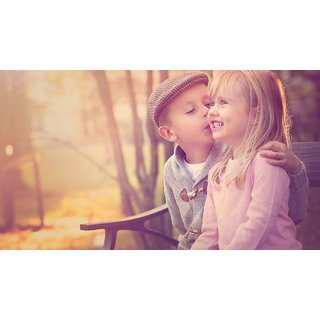 Baby Kissed poster (Canvas Cloth Print, 12 x18 inch)
