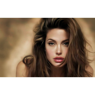 MYIMAGE Angelina Jolie Hollywood Star Poster (Canvas Cloth Print, 31 cm x 46 cm)