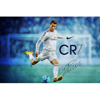 MYIMAGE Cristiano Ronaldo - Soccer player of Real madrid Team Poster (Canvas Cloth Print, 31cm x 46 cm)