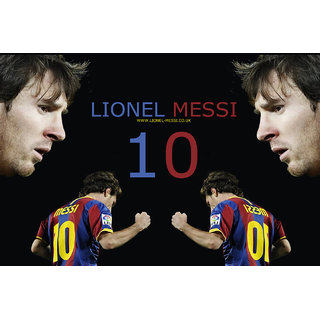 MYIMAGE Canvas Cloth Poster Lionel messi - A great Soccer player (31cm x 46cm x 31cm, Red)