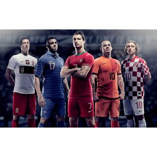 MYIMAGE Euro soccer Team Poster (Canvas Cloth Print, 31cm x 46 cm)