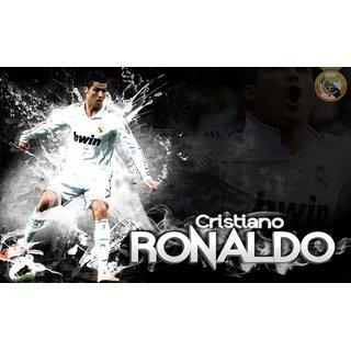 MYIMAGE Cristiano Ronaldo - Blasting Soccer player of Real madrid Team Poster (Canvas Cloth Print, 31cm x 46 cm)