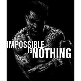 MYIMAGE Impossible Is Nothing Muhammad Ali Poster (Canvas Cloth Print, 12x18 inch)