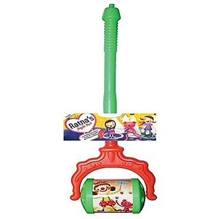 Toyztrend Pull Push Along Jingle Bell Roller With Lovely Rhythmic Sound In Assorted Colours & Designs For Kids