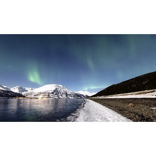 MYIMAGE Northern Lights Nature Poster (Canvas Cloth Print, 12x18 inch)