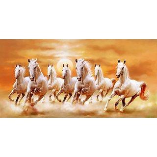 Buy Seven Horses Poster Vastu Seven Horses Posters Running Horse