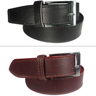 Jack Klein Leatherite Belt Combo For Men