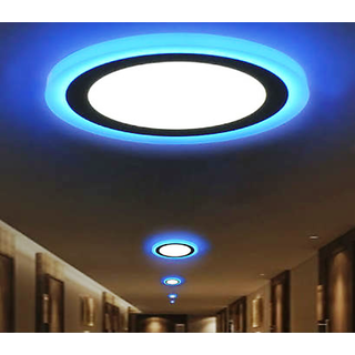 Whiteblue dual color 16 w power led recessed ceiling panel light whiteblue dual color 16 w power led recessed ceiling panel light round mozeypictures Gallery