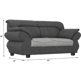 Buy Gioteak Kingdom 2 seater sofa set in light grey color with ...