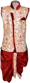 Kids Angrakha Style Kurta and Dhoti Pant for Boys