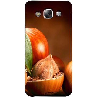 FUSON Designer Back Case Cover for Samsung Galaxy E7 (2015) :: Samsung Galaxy E7 Duos :: Samsung Galaxy E7 E7000 E7009 E700F E700F/Ds E700H E700H/Dd E700H/Ds E700M E700M/Ds  (Almond With Shell ThatS Lot Of Nuts Food Energy )