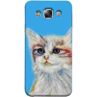 FUSON Designer Back Case Cover for Samsung Galaxy E7 (2015) :: Samsung Galaxy E7 Duos :: Samsung Galaxy E7 E7000 E7009 E700F E700F/Ds E700H E700H/Dd E700H/Ds E700M E700M/Ds  (Dog Cat Kitten Whisker Puppy Triangle Rectangle)